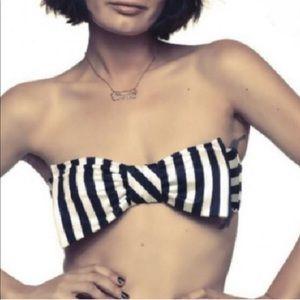Lolli Swim striped bandeau top M
